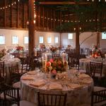 Barn set up for wedding reception