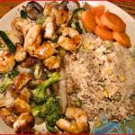 Shrimp and Chicken with Fried Rice