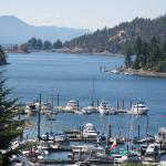 Beautiful view of Pender Harbour from Enchanter B&B deck