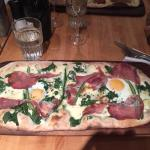 Zizzi's special ham and egg, very nice