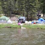 Camping next to Red River