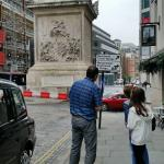 David showing us the sights in London.
