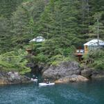 Deluxe Yurt accommodations overlooking the cove