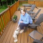 Sitting on the deck with Stewart