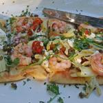 Yummy Flat Bread with Shrimp
