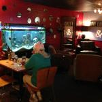 Lunch by the fish tank!