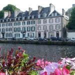 L'hôtel depuis la Rivière de Morlaix