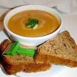 Butternut Squash soup with homemade bread