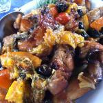 roasted rabbit with oranges & black olives