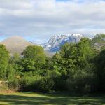 The lodge view across to Ben Nevis