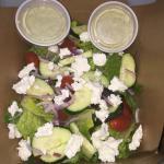 Pesto ranch salad! OMG! So good!