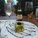 This is the excellent timbale (avocado and prawn) - one dish in a wonderful selection of starter