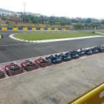 Vista de la pista desde terraza. Vista de los karts.