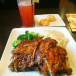 Best Rib's in Town, must try Cajun BBQ nice and tender. You must also try their Strawberry Lemon