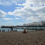 Brighton Beach and the fire pit