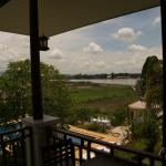 View over  the pool and Mekong River