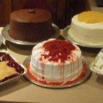 Cakes, Cobblers, and Puddings baked fresh daily