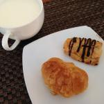 milk and croissant