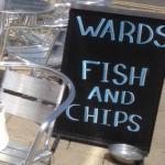 Ward's Fish & Chip Sign Bridlington Jun 2015