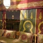 View of Koutoubia from terrace tent