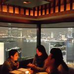 Table near huge windows with nice view