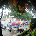 Sunday walking street market is in front of the hotel.
