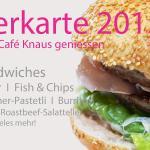 Saisonspeisekarte Café Knaus