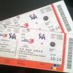 The tickets for the Match.
