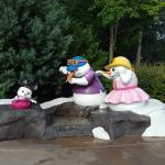 Cute Snowman Family near entrance