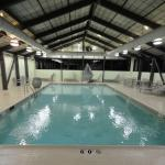 The large indoor heated pool at the Springhill Suites Elmhurst, IL