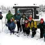 All group sizes and ages are welcome on our xc ski/snowshoe tours!