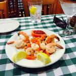 Cacciatore, calamari and shrimp