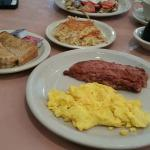Corned Beef Hash, Eggs, Potatoes and Toast at Original Pancake House South Bend