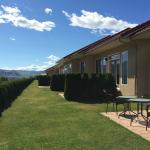 Lovely property with private patios and lots of space between units
