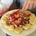 Great fruit,granola, and yogurt breakfast!  Tasty