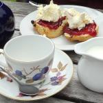 Cream tea at Glen Lyon PO and tearoom