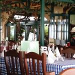 vorderer Teil des Restaurants ... war früher die Terrasse