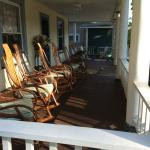 The rockers lining the spacious front porch