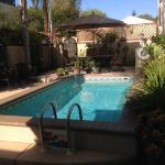 Solar heated dipping pool. Cool weekend, so didn't have chance to take a dip, but looks very inv