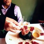 Gene Tang presenting 7X Waygu Beef