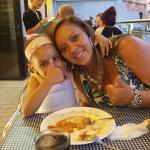 me and my little girl enjoying our meal