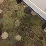 Dirty tracked hallway carpets. Second floor. My room