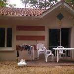 Terrasse avec la maison plain pied