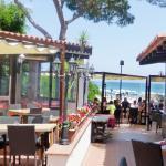 Ristorante Corallo, drekt am Strand