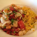 Saute of Shrimp, Scallops and Cod