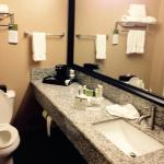 Room was very nice and clean!  Bathroom had a wonderfully large vanity.  Breakfast was good and