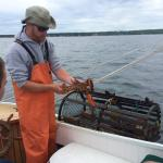 Captain Nate teaching about lobstering