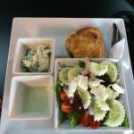 Greek chicken pie with Tzatziki