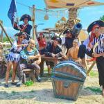 Atlantique animation team in aquapark