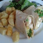 Crispy chicken wrap with sweet chilli